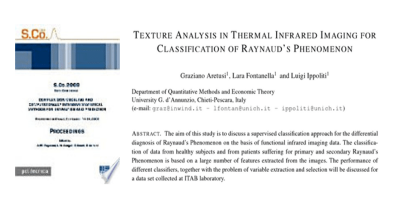 Texture Analysis in Thermal Infrared Imaging for Classification of Raynaud's Phenomenon (G. Aretusi et al.)