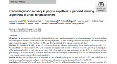 Electrodiagnostic accuracy in polyneuropathies: supervised learning algorithms as a tool for practitioners (G. Aretusi et al.)